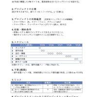 Webサイト更改プロジェクトを想定したプロジェクト憲章のサンプル